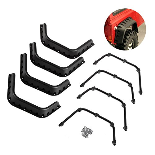 LAFEINA 1/10 Scale Fender Flares for 1:10 RC Rock Crawler Axial SCX10 RC4WD Gelande II D90 D110 Body Shell Parts