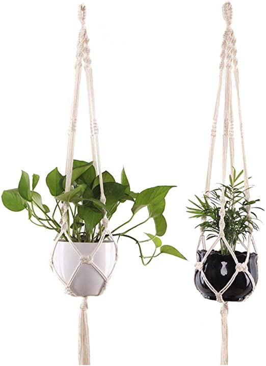 Plant Hanger Macrame Hanging Basket Net Rope for Flower Pot Holder Home Ornament
