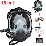 Muhubaih 15in1 Full Face Large Size Gas Dust Mask & Accessories
