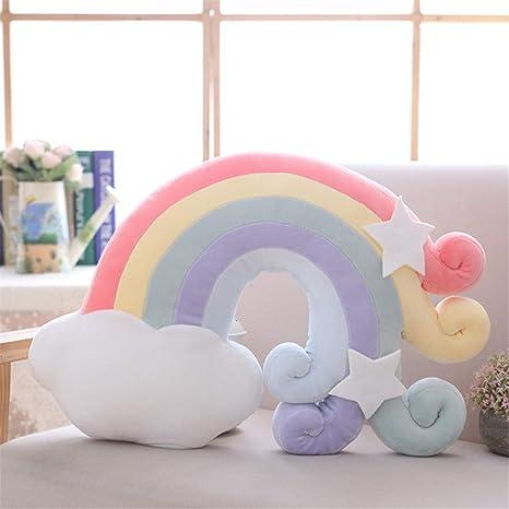 Almohadas de Felpa en Forma de Arco Iris Nubes Almohadas de ...