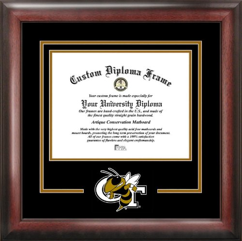 Campus Images NCAA Georgia Tech Yellow Jackets Spirit Diploma Frame, 14 x 17, Mahogany (Georgia Tech Diploma Frame)