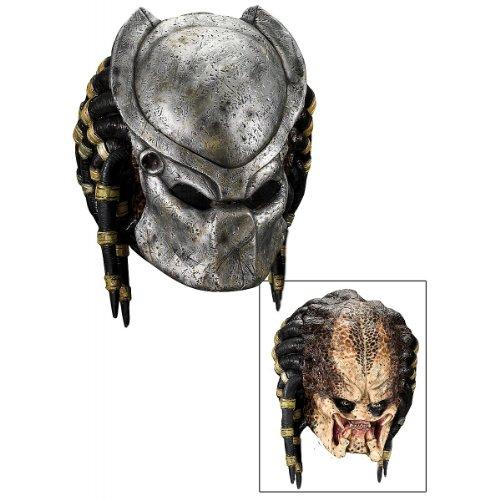 [Deluxe Predator Mask with Detachable Faceplate Costume Accessory] (Predator Deluxe Mask)