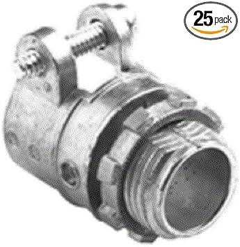 Bridgeport 408 Dc2 3 4 Inch Squeeze Connector 25 Pack Conduit Fittings Amazon Com