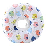 Elizabeth Circle, Adjustable Neck Collar Circle Cotton Blend Pet Cone E-Collar with Cute Bird Pattern for Cat and Dog(S)