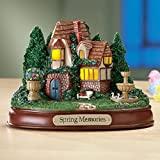 Lighted Seasonal Cottage Tabletop Decor, Winter