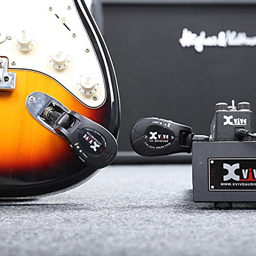 Xvive U2 rechargeable 2.4GHZ Wireless Guitar System - Digital Guitar Transmitter Receiver (Black) by Xvive (Image #5)