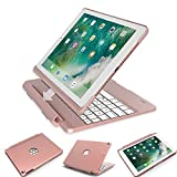 iPad Pro 9.7 Case with Keyboard, 2017&2018 iPad Case with Keyboard, iPad Air Case with Keyboard, iPad Air 2 Case with Keyboard, Detachable 7 Color Backlit Wireless Bluetooth iPad Keyboard Case Cover