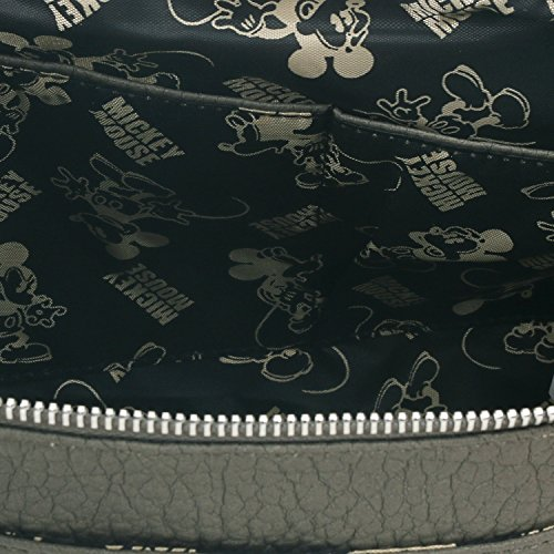 Bag Disney ililily Mickey Mouse Shoulder Rhinestone Mini Shape Grey Crossbody 8w6AOwqxd