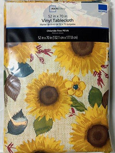 (Mainstays Vinyl Tablecloth 52x70 Sunflower Theme)