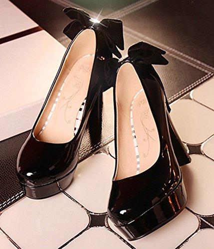 Escarpins Aisun Plateforme Nœud Femme Noir Elégant Papillon qCgx8wU6C