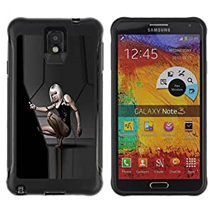 SHIMIN CAO@ Sexy Sci Fi Girl Rugged Hybrid Armor Slim Protection Case Cover Shell For Note 3 Case ,N9000 Leather Case ,Leather for Note 3 ,Case for Note 3 ,Note 3 case