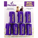 Hertzko Dogs and Cat Finger Tooth Brush by Pk Includes 7 Finger Brushes - Gives Great Control to Reach into the Back of your Dogs Mouth - Decreases Teeth and Gum Problems - Advanced Oral Care