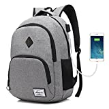 Laptop College Backpack Waterproof Lightweight Minimalism with USB Charging Port Business School Book