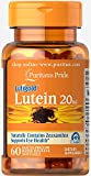 Puritan's Pride Lutein 20 mg with Zeaxanthin-60 Softgels For Sale