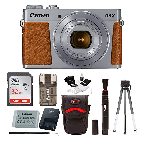 Canon Powershot G9 X Mark II Digital Camera (Silver) with 32GB Card and - Sd Canon Powershot Series