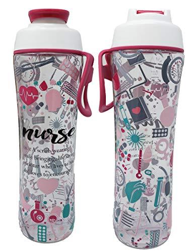 50 Strong Nurse Water Bottle - BPA Free 24 oz. w/Carry Loop & Chug Cap - Great Gift for Nurses, RN, or Nursing Graduation for Birthday, Thank You, Christmas or Graduate (Nurse Definition, 24 oz.)