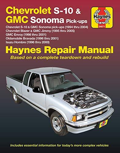 Chevrolet S-10 & GMC Sonoma Pick-ups Haynes Repair Manual: Chevrolet S-10 & GMC Sonoma pick-ups (1994 thru 2004), Chevrolet Blazer & GMC Jimmy (1995 ... Hombre (1996 thru 2000) (Haynes Automotive) ()