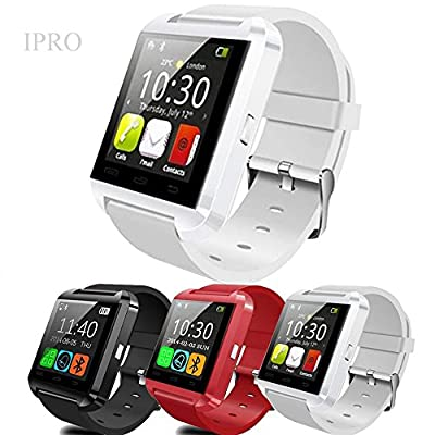 IPRO U8 Bluetooth Digital Anti-lost Smartwatch for IOS&Android Smartphones Activity Pedometer Tracker Call Assistant Sleep Health Monitor Wristwatch with Remote Camera,Alarm,Clock,Music Player