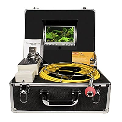 Pipe Inspection Camera, Drain sewer Industrial Endoscope Anysun PIC30DVR Waterproof IP68 30M/100ft Snake Video System with 7 Inch LCD Monitor 1000TVL Sony CCD DVR Recorder (8GB SD Card Include)