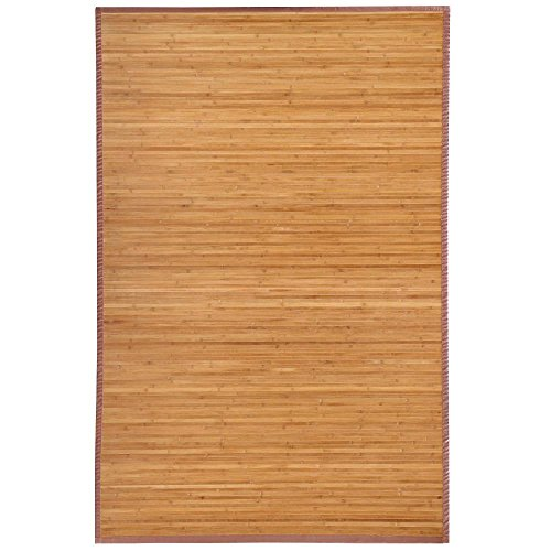 Yaheetech Bamboo Area Rug Carpet 5'x 8'/4' x 6'Brown Natural Bamboo Wood Floor Mat Bamboo Carpet (6 x 4 ft) (Wide Rug Bamboo Slat)
