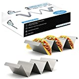 6 corn tortillas - Sparks Kitchen Co. 2 Pack Taco Holder Stand with Handles - Stainless Steel Taco Rack Holds up to 3 Tacos Each