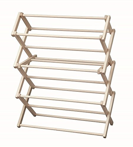 Laundry Drying Rack Collapsible Wood Garment Dryer