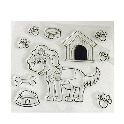 Residen Dies for Die Cutting with Transparent Stamp - Scrapbooking DIY Album Paper Card Craft Embossing Die Cut Tools (F Golden retriever dog)