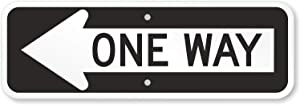 "SmartSign ""One Way"" MUTCD Compliant Sign with Left Arrow 