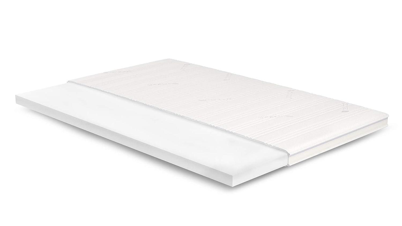 AS Meister 7cm Kaltschaum Topper 130x190 cm - Tencel Bezug mit 3D-Mesh-Klimaband & Stegkante - 5cm HR Kaltschaum RG 45 - Matratzenauflage 130x190 für Ihr Bett