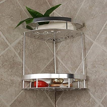SYDLJ Cesta de malla de oro doblar una toalla de baño actividades espacio de rack de