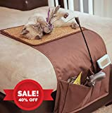 snowpaw Christmas Deal Cat Scratcher with Cat Toy Storage & Remote Control Holder, Sisal Scratcher, Cat Scratcher Pad, Cat Scratcher Protector, Furniture Protection, with Free Organic Catnip