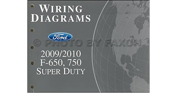 2009-2010 ford f650-f750 medium truck wiring diagram manual ... 2010 f650 fuse diagram  amazon.com
