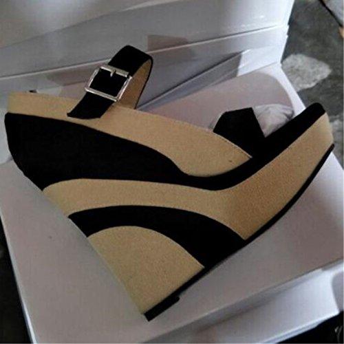 VIVIOO Prom Sandals Sandals Sandals schuhe. Fashion Novelty,Multi Farbe Cloth,14.5 cm High-Heeled schuhe,Peep Toe Pumps.Größe 34-45,Multi,6.5 172fce