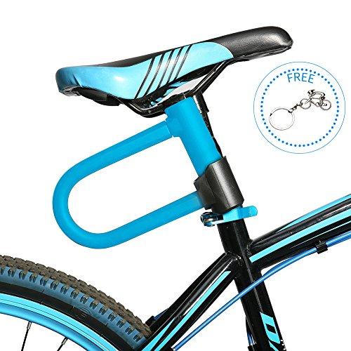 westgirl bicicleta candado en U con 3.94-foot Flex Cable de acero bicicleta U tipo de candado en forma de U, Moto candado...