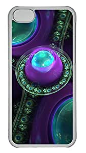 iPhone 5C Case Beautiful Fractal Gems PC iPhone 5C Case Cover Transparent