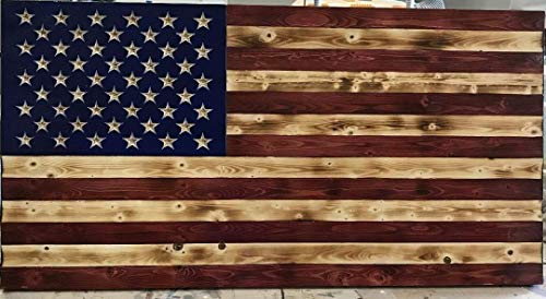 (Wooden Rustic American Flag (16X30) inches)