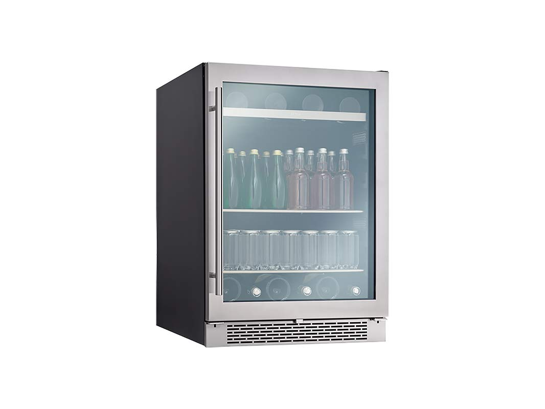 Zephyr PRB24C01BG Presrv Series 24 Inch Stainless Steel Freestanding or Built In Beverage Center