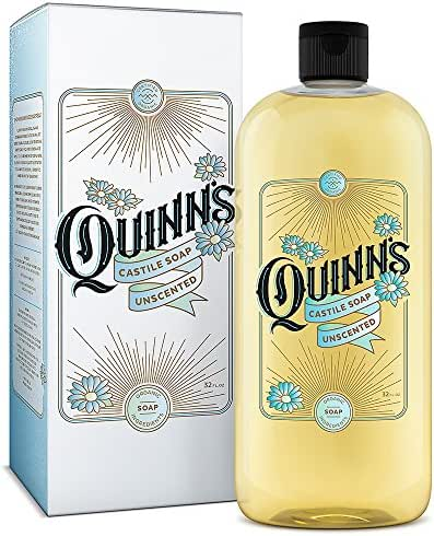 Quinn's Pure Castile Organic Liquid Soap, 32 ounce (Unscented)