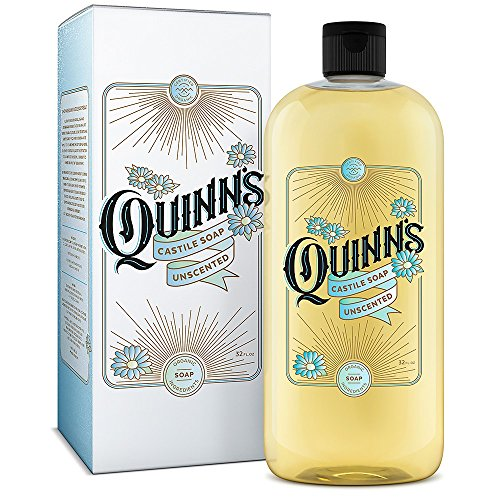 Quinns Pure Castile Organic Liquid Soap, Unscented, 32 oz ()