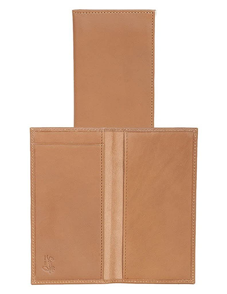 Scully Western Men Wallet Harness Ranger Checkbook Cover Brown RG21-45