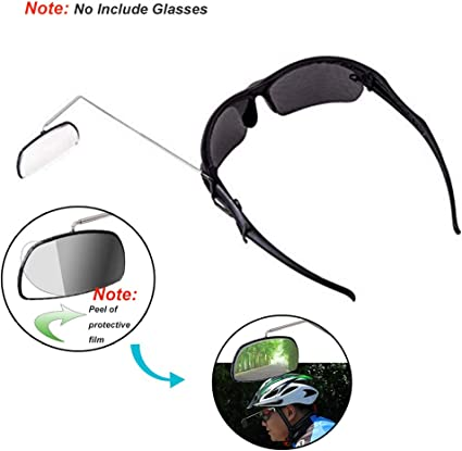 Brand New Clear Bicycle Mirror Helmet Mount Rear View Rear View Eyewear