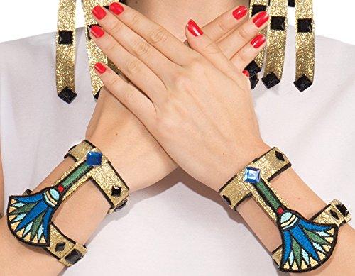 Forum Novelties Gold Egyptian Wrist Cuffs, Egyptian Accessory