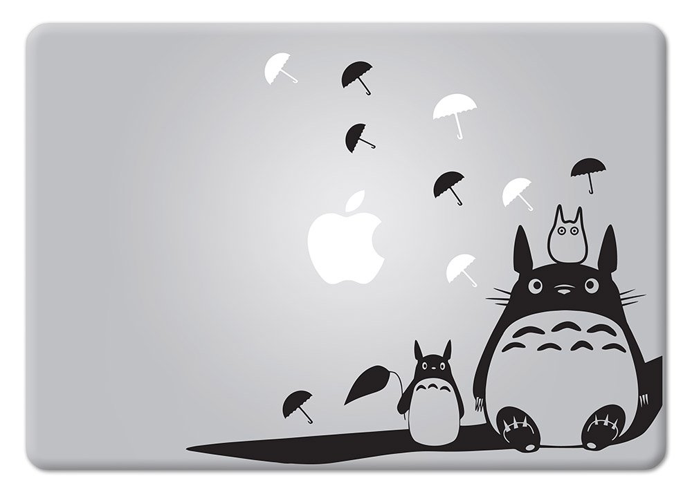 Amazon com totoro studio ghibli apple macbook decal vinyl sticker apple mac air pro retina laptop sticker home kitchen