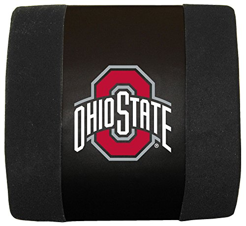Ohio State Buckeyes Seat Cushion - Fremont Die NCAA Ohio State Buckeyes Lumbar Cushion, Black, One Size
