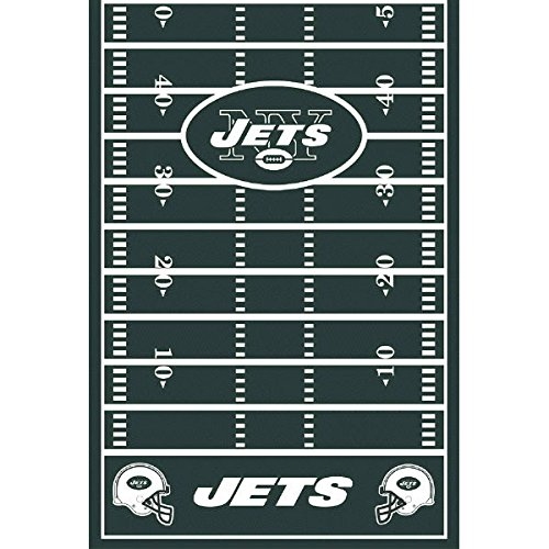 Amscan ''New York Jets Collection'' Printed Plastic Table Cover for Party, 6 Ct.