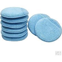 Viking Car Care 426201 Blue 8 Microfiber Applicator Pads with Finger Pockets, 8 Pack