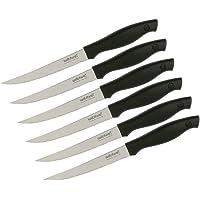 Wiltshire 41150 Wiltshire Laser Edge Steak Knife, Black, 6 Piece