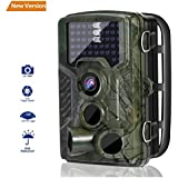 Wildlife Camera, LESHP Trail Hunting Game Camera No Glow 16MP 1080P Motion Activated w/ 120°Infrared Night Version, 2.4 LCD Display, IP56 Waterproof Design for Animal/Event Observation Surveillance