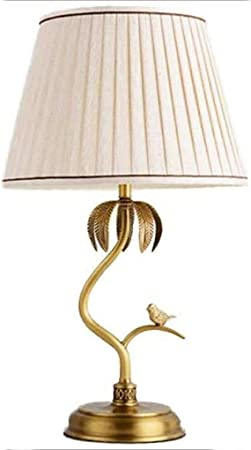 YHLZ Cobre Americana Simple Tabla de la lámpara Jardín Francés de Estar Sala de Estudio Caliente de Noche Decoración Lámparas Lámpara de Mesa Europea de Aves (Tamaño: 36 * 62cm): Amazon.es: Hogar