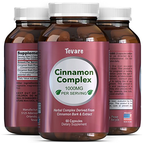 Complex Cinnamon Capsules - Vitamin For Weight Loss + Best Blood Sugar Support - 100% Pure For Men